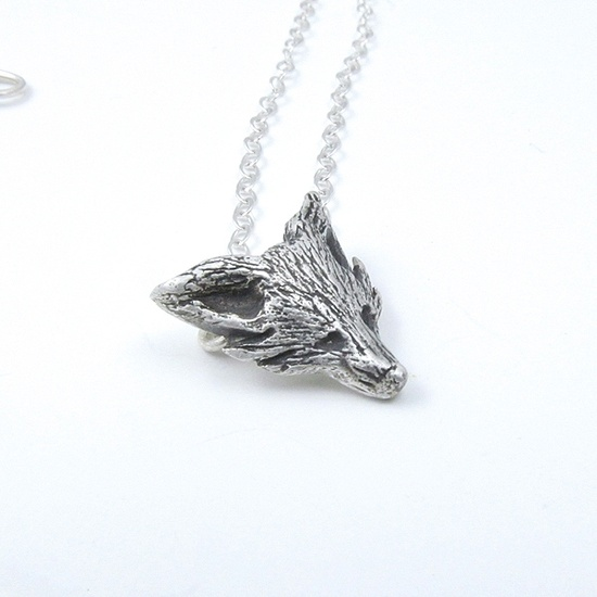 Fox Necklace - sterling silver jewelry