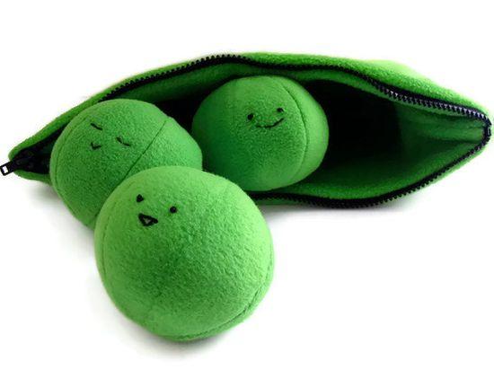 Plush Toy Sewing Pattern PDF - Peas in a Pod - DIY Baby Toy Pattern