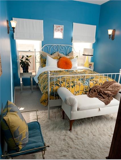 small bright bedroom
