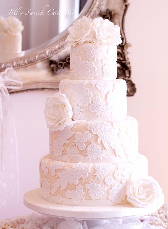Lace Wedding Cake