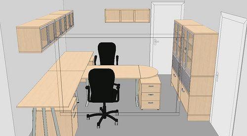 t-shape desk layout