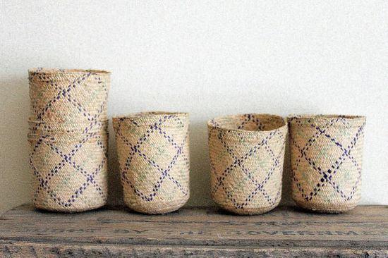 cute vintage nesting baskets