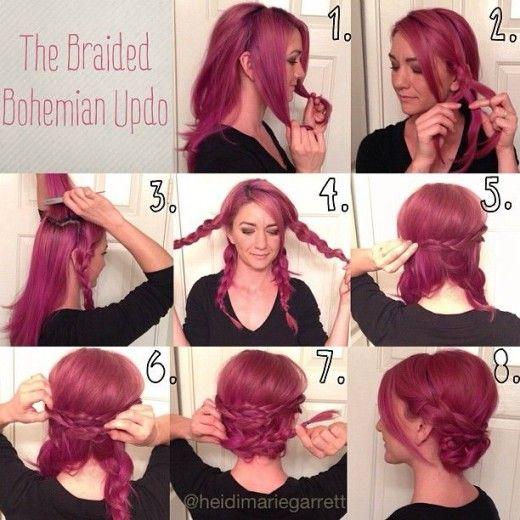 Bohemian hairstyle.