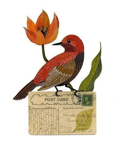 ... Bird No 6 by Geninne on Etsy, $30.00