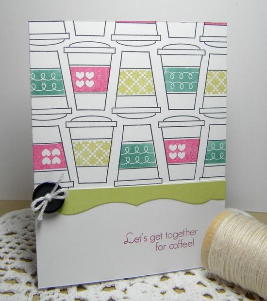 Let's Get Together Handmade Card