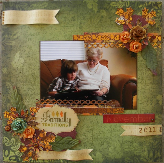 Family traditions layout :) #Scrapbooking with the @DCWV Inc. Diary: Feeling Fall