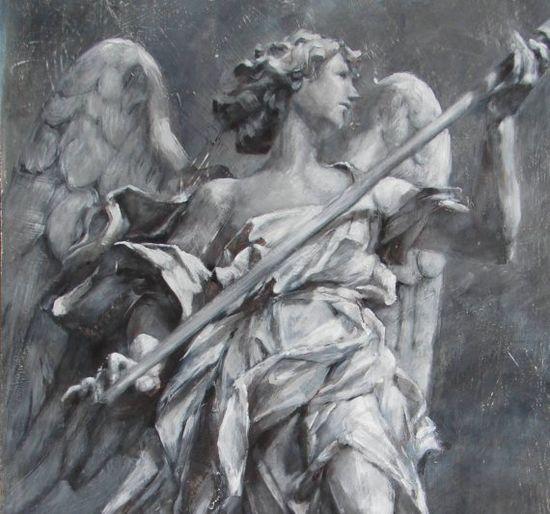 """Angel of Hope"" original art painting"