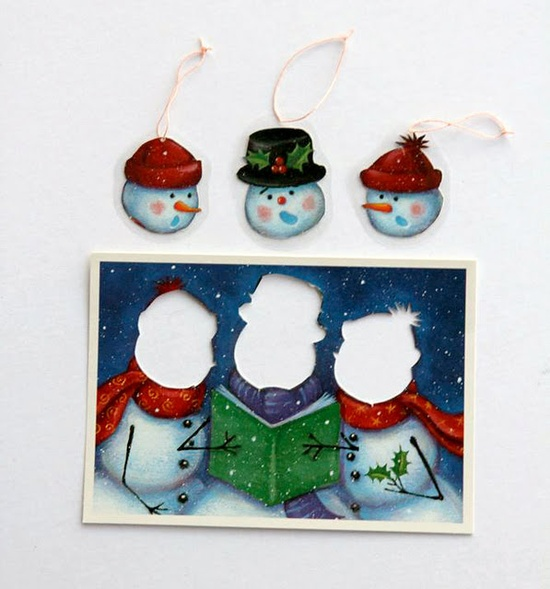 Reuse old Christmas cards in a variety of creative ways.
