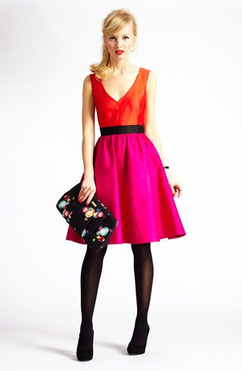 kate spade new york silk dress & accessories