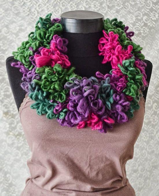 Crochet scarf Autumn  Signs,handmade neckwarmer, winter women accessories, long scarf fall fashion,