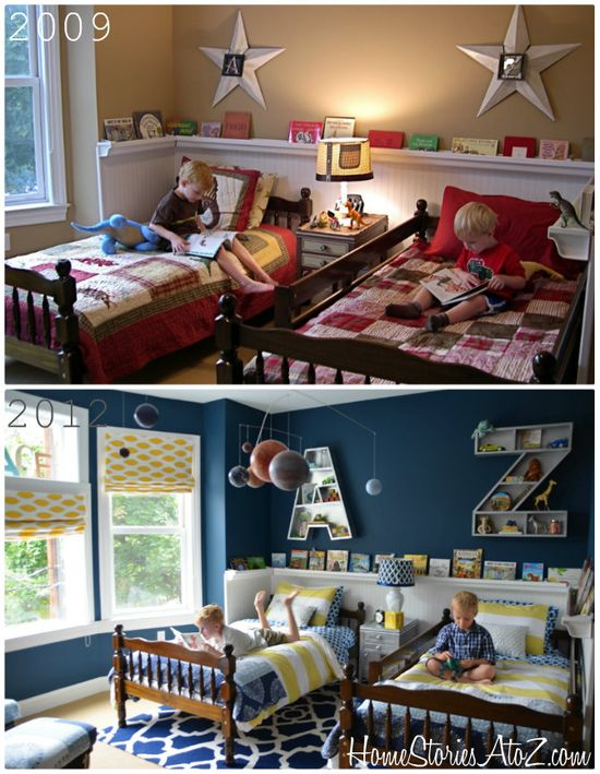 Boys Bedroom Reveal THIS LADY MADE AWESOME SPACE FOR HER BOYS :) i want to do it one day :)