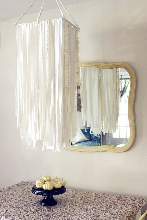 DIY fabric chandelier