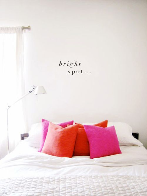 white and colors : bedroom