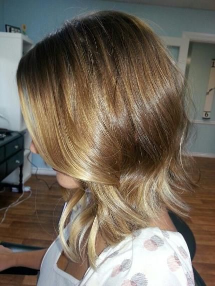Ombré and long bob