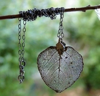 Nature Lover Leaf Necklace Real Aspen Leaf Organic Silver Free Shipping. $45.00, via Etsy. @Sherry Thomas