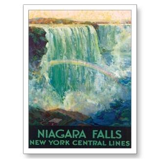 Vintage Niagara Falls NY Travel Poster Art postcard