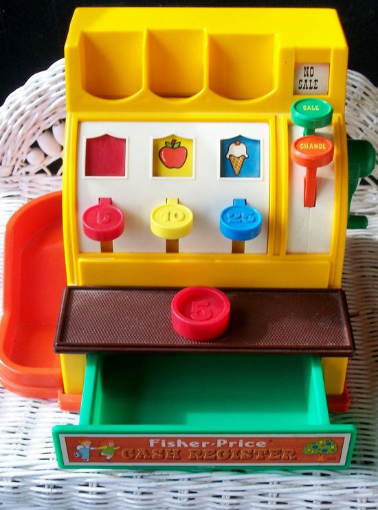 1970s Fisher Price Cash Register.