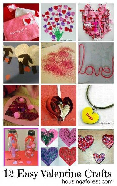 12 Easy Kid Valentine Crafts