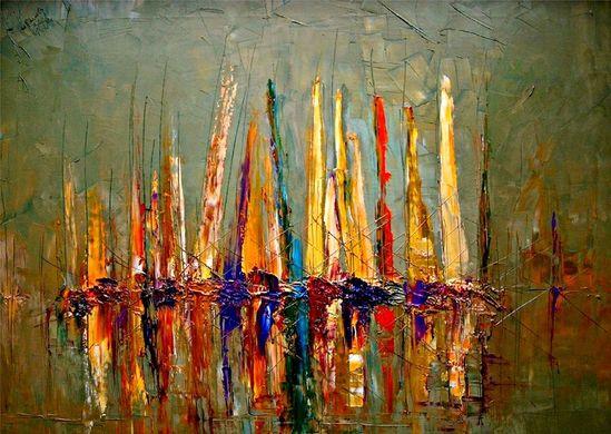 """Justyna Kopania; Oil, 2011, Painting """"Boats"""""""