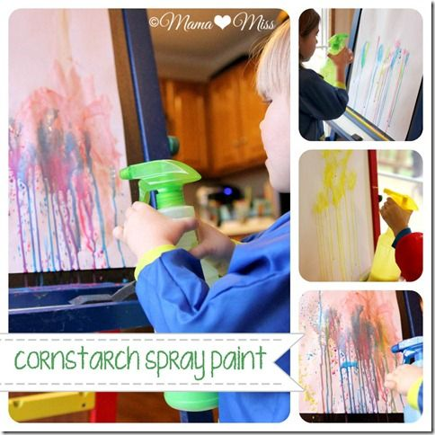 Cornstarch Spray Paint {mama?miss} ©2012