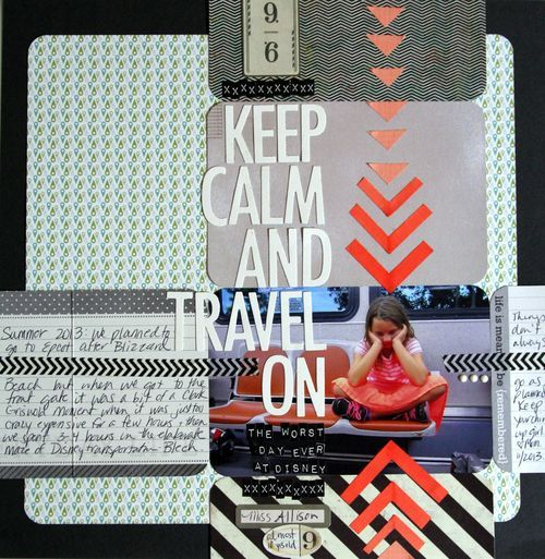 emphasis by using color / scrapbook design rules