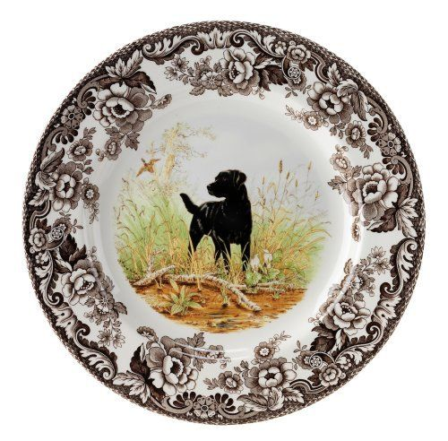 Spode Woodland Hunting Dogs Black Labrador Salad Plate by Spode. Save 30 Off!. $22.05. 8 inch. Made of high quality earthenware. Dishwasher and Microwave safe. Makes a wonderful gift for family or friends. Dogs make popular, lovable family companions, but of course many were originally bred for alternate purposes such as hunting or gun dogs used to assist hunters in the flushing and retrieval of game.. Spode Woodland Hunting Dogs- Black Labrador Salad Plate measures 8 inches.  The ...