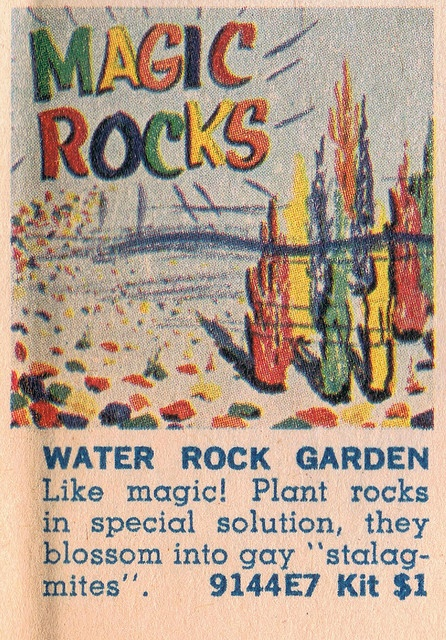 Magic Rocks! You ordered these using the form in the comics section of the Sunday morning paper.