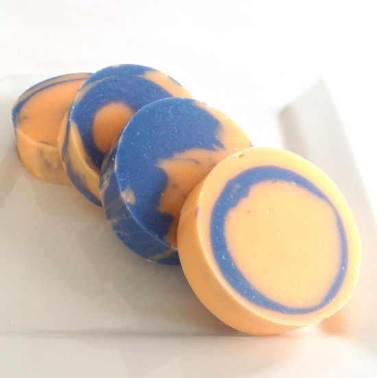 Orange Sapphire Cold Process Coconut Milk Soap with by WickedSoaps, $4.50