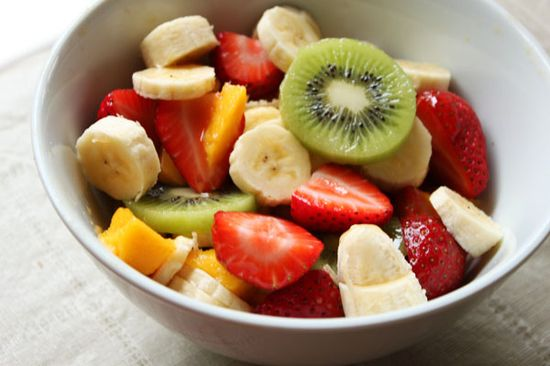 Fruit Salad for Breakfast. Drizzle with honey.