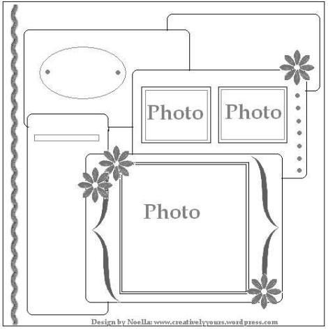 #papercraft #scrapbook #layout #sketch