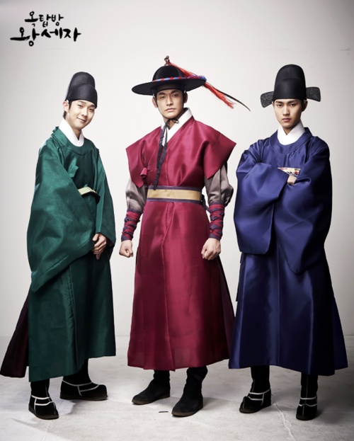 "Choi Woo Shik, Jung Suk Won, and Lee Min Ho for ""Rooftop Prince""- love these guys! :)"