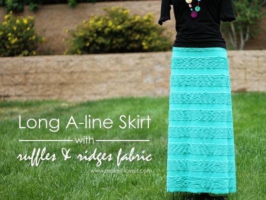 Long A-Line Skirt Tutorial {love that fabric}!