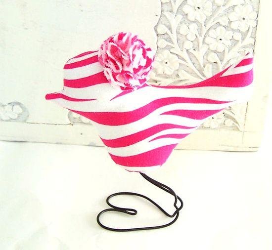 Hot Pink Zebra Love Bird Nursery Home Decor by vintagegreenlimited, $19.00