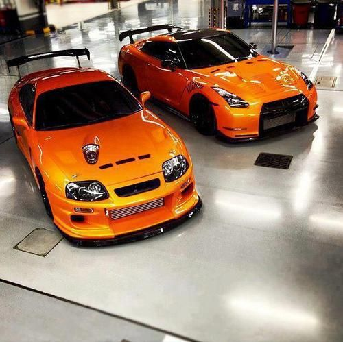 Toyota Supra and Nissan GT-R