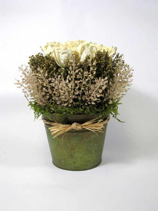 Dried Floral Arrangement French Country by summersweetboutique