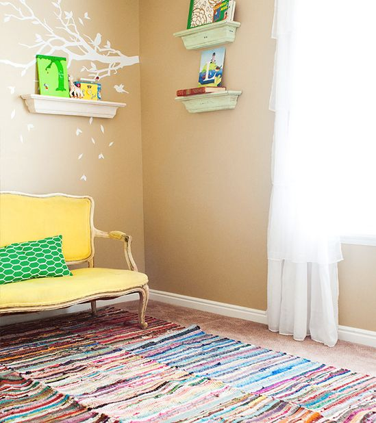 DIY directions for an easy, fun area rug