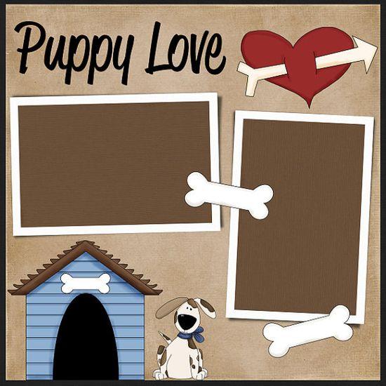 Puppy Love scrapbook layout