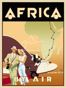 Vintage travel posters.  Africa. For more vintage travel posters, check out www.goseewrite.co...