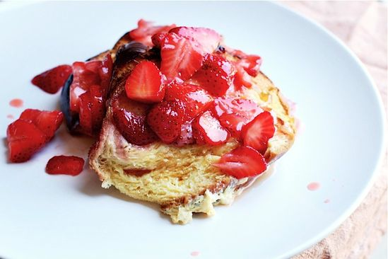Baked Strawberry French Toast by brooklynsupper #French_Toast #Strawberry