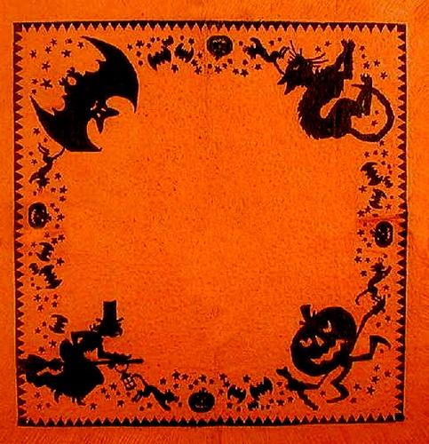 Vintage Halloween Crepe Paper Napkin