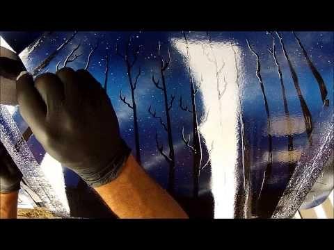 ? spray paint art - trees