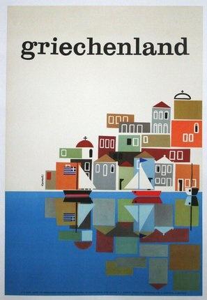 Greece #travel #poster by Freddie Carabott