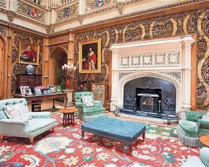 Downton Abbey and Highclere Castle interiors
