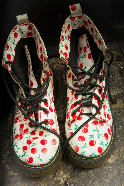Cherry Doc Martens
