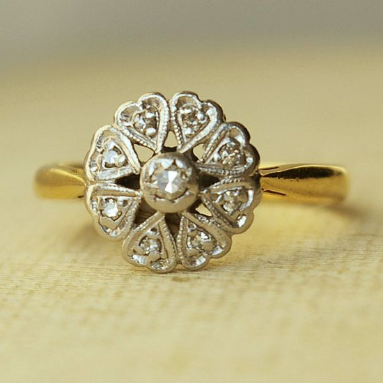 antique rings: luxedeluxe  Wedding Bridal Jewelry with Vintage Glamour