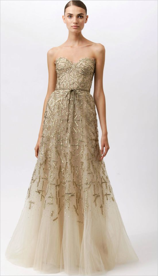 2012 Monique Lhuillier Resort Collection. Good as Gold.