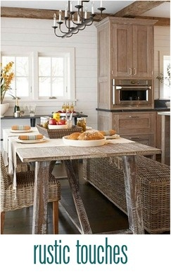 rustic touches in interiors