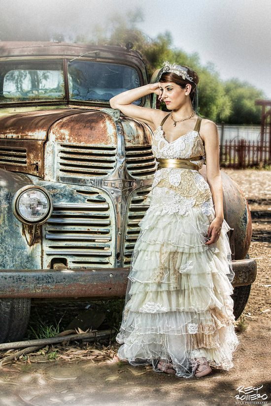 Romance Doily dress and Country Bride Eco wedding by CGHeaven, $599.00