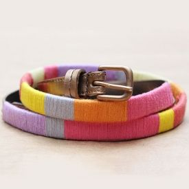 Learn how you can easily make this J.Crew inspired thread-wrapped belt!
