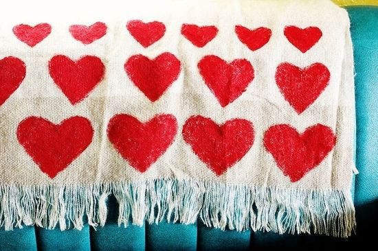 A heart-printed blanket will keep loved ones warm.